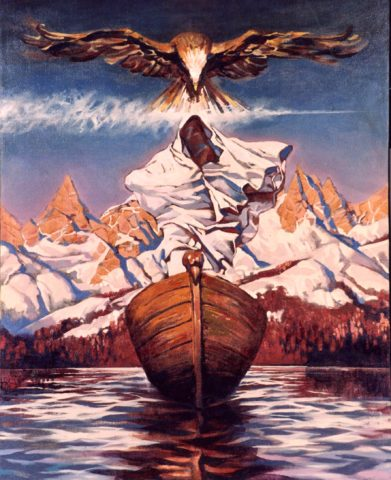 «Возвращение», Рамиль Латыпов, 1998, холст, масло, 90х70
