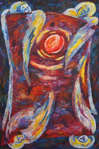 «Луна», Рената Малютина, 2011-2012, холст, масло, 180х120, из серии «Откровение»