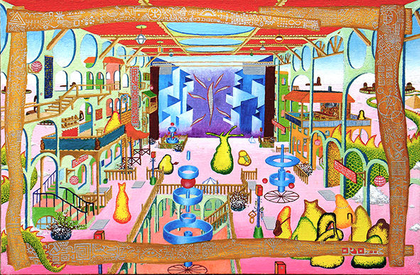 «Театр», Руслан Ахунов, 2003, холст, масло