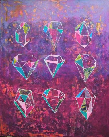«9 кристаллов», Радик Гарифуллин, 2017, холст, акрил, 100х80