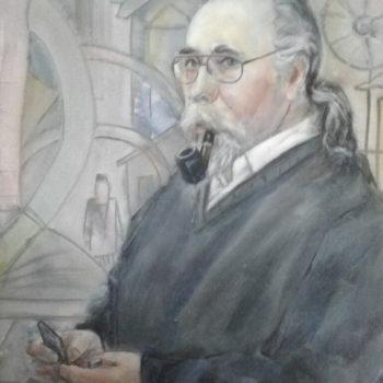 «Портрет художника Филарета Шагабутдинова», Альберт Кудаяров