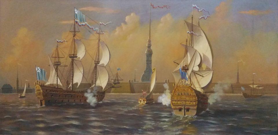 «Петровская Нева», Юрий Бычков, 1995, холст, масло