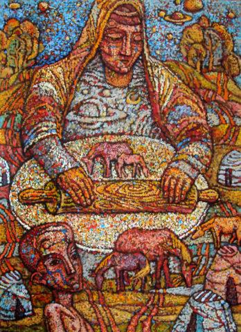 «Тесто жизни», Амир Мазитов, 2013-16, холст, масло, 179х150