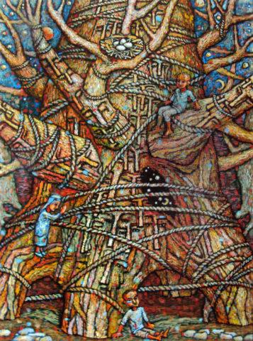 «Дерево деда», Амир Мазитов, 2015-16, холст, масло, 179х150