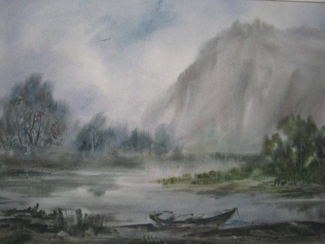 «Инзер после дождя», Альберт Кудаяров, 2015, бумага, акварель
