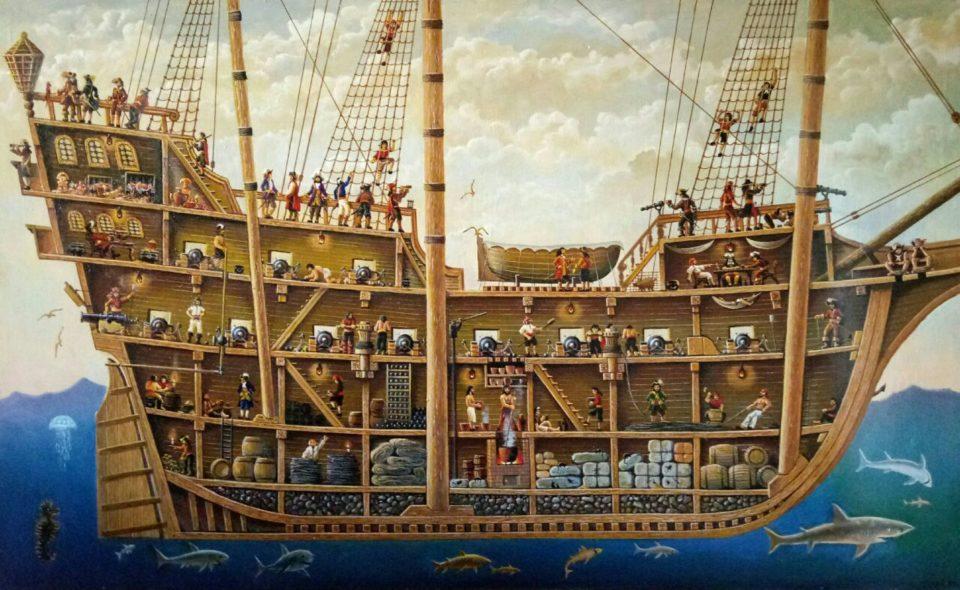 «Пиратская жизнь», Юрий Бычков, 2013, холст, масло, 115х190