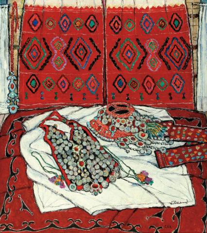 «Интерьер башкирского дома», Адия Ситдикова (годы жизни 1913–2000), фонд БГХ музея им. М. В. Нестерова 8461