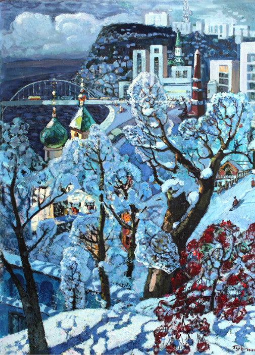 «Над Белой», Александр Бурзянцев (1928-1997), 1984. Фонд БГХМ им. М. В. Нестерова