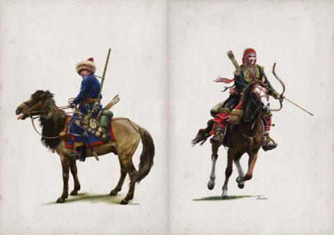 «Башкиры в 1812 г.», Азат Кужин, иллюстрации к книге Р. Рахимова «Национальная конница императора Александра I»