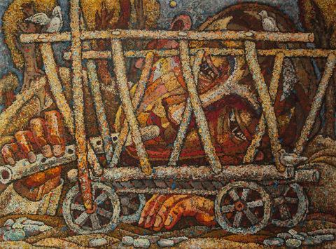 «Середина дороги» из серии «Поэт», Амир Мазитов, 2012-14, холст, масло, 152х180