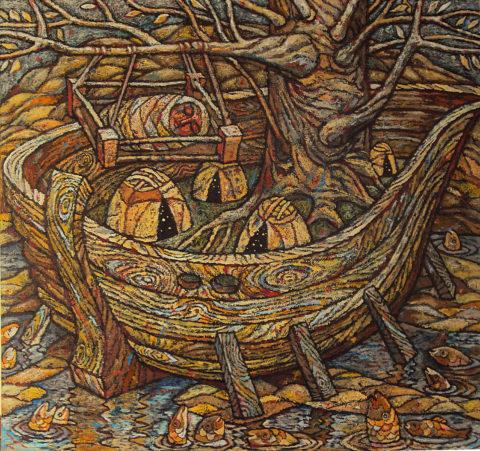 «Песня рыб. Начало рек», Амир Мазитов, 2012-14, холст, масло, 160х179