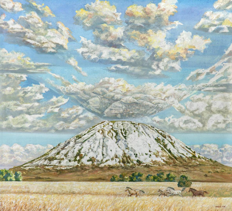 «Сон Шихана», Вагиз Шайхетдинов, 2008, холст, масло. БГХМ им. М.В. Нестерова