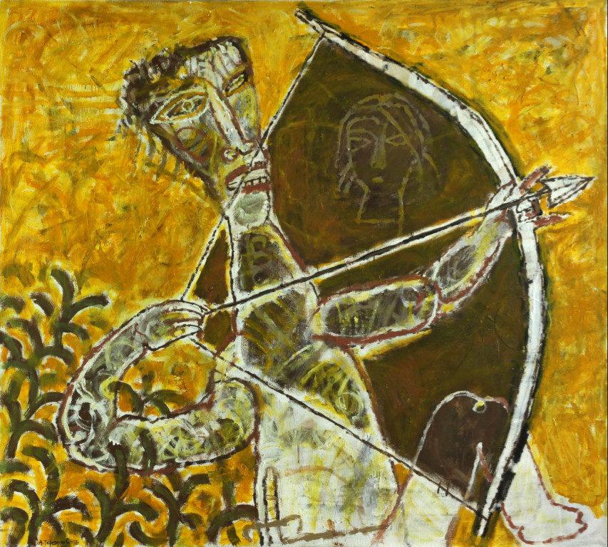 «Золотой стрелок», Айрат Терегулов, 2016, холст, масло, 100х110