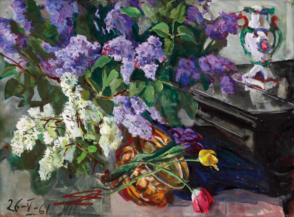 «Сирень», Александр Тюлькин (1888–1980), 1961, фонд БГХМ им. М.В. Нестерова