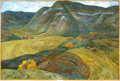 «Кандры», Александр Бурзянцев (1928-1997), холст, масло. Фонд БГХМ им. М. В. Нестерова