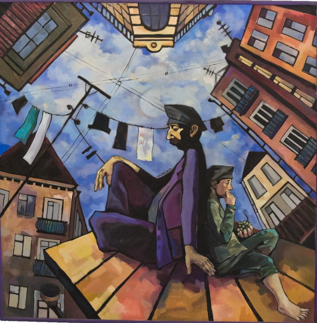 «На крыше», Лиана Мкртчян, холст, масло