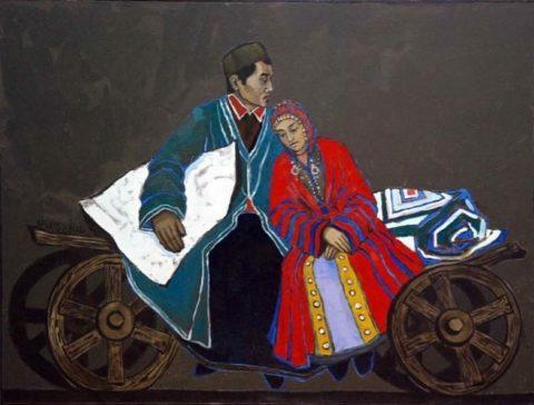 «Башкирская свадьба», Лиана Мкртчян, холст, масло