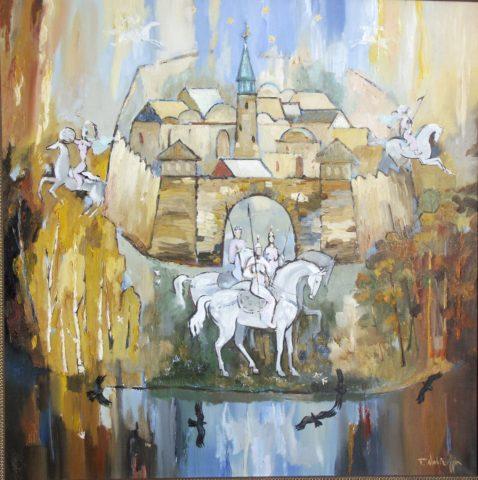 «Двенадцать девушек», Финат Набиуллин, 2003, холст, масло, 80х80