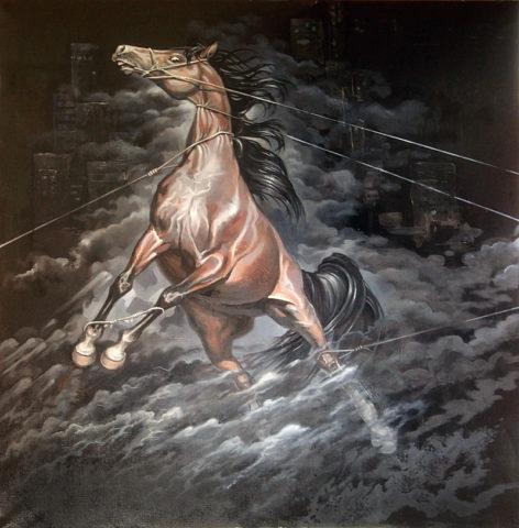 «Непокорённый - 2» (из серии «Непокорённые»), Игорь Тонконогий, 2011, холст, масло