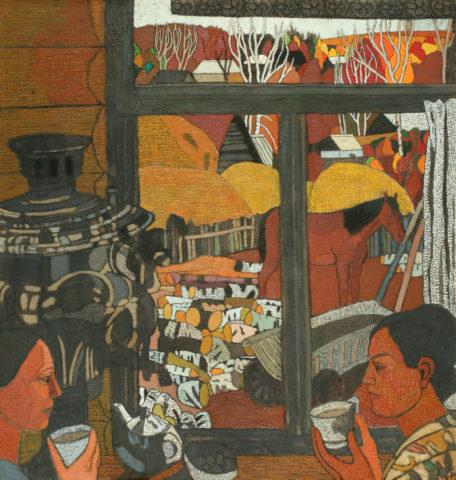 «Горячий сладкий чай», Миля Гатауллина, 2010, холст, масло, 100х95