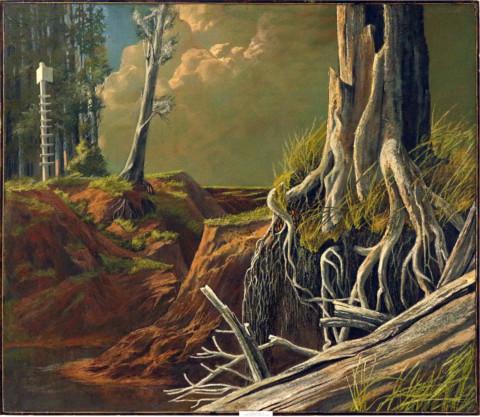 «Покинутый берег», Евгений Винокуров, 1989, холст, масло