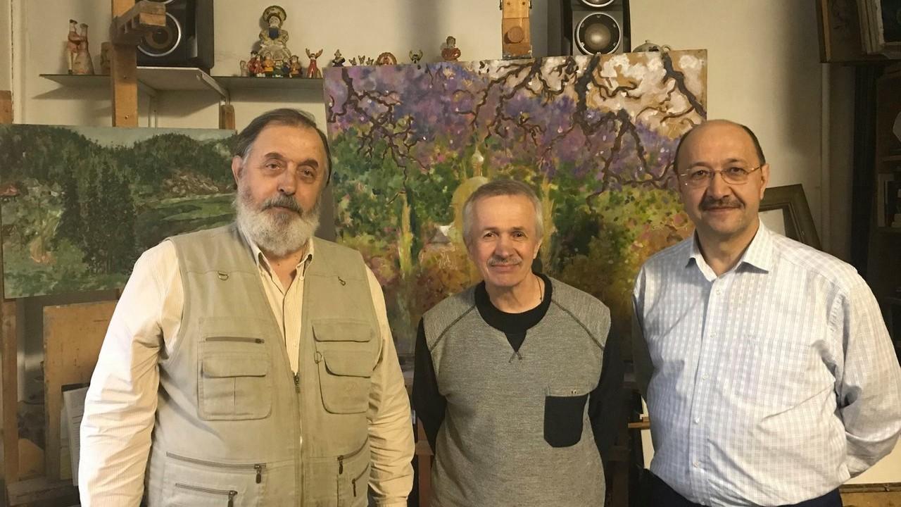 В гостях у Виктора Домашникова побывали Сергей Круль и Наиль Махмутов