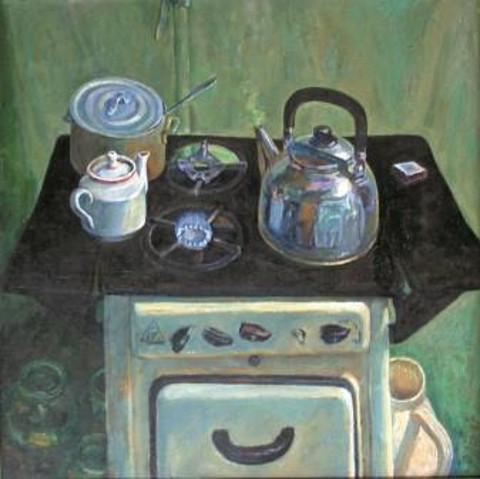 «Старая плита», Риф Абдуллин, 1981, холст, масло