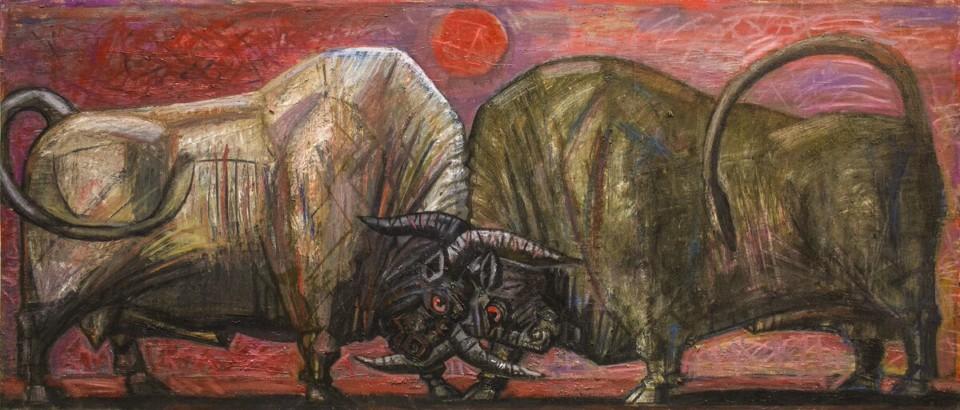 «Противостояние», Джалиль Сулейманов, 2011, холст, масло, 80х120