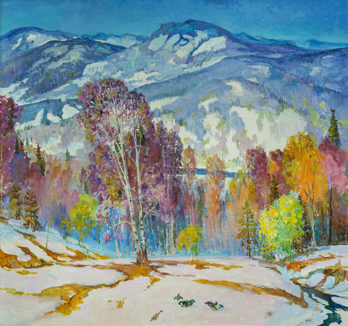 «Свежий ветер весны», Виктор Суздальцев, 2000, холст, масло