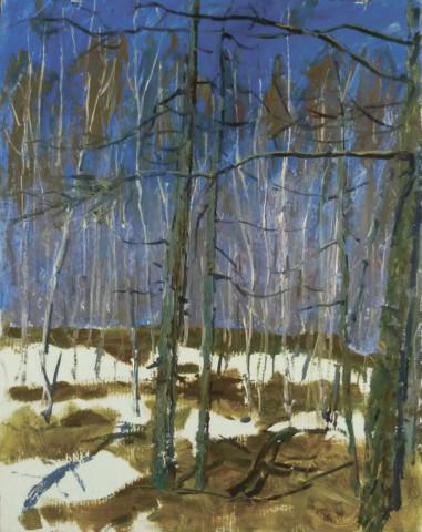 «Апрельский лес», Риф Абдуллин, холст, масло