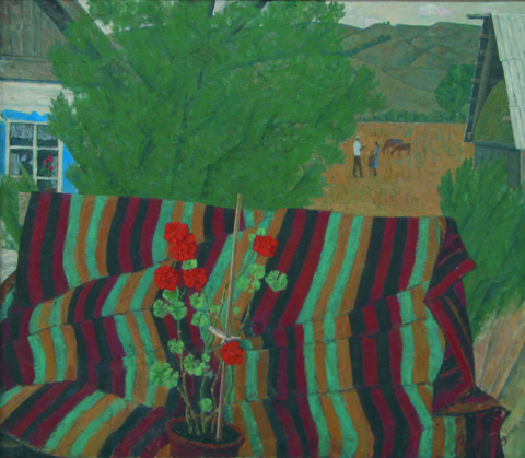 «Бабушкин палас», Риф Абдуллин, 1990, холст, масло