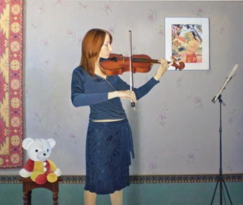 «Любимая мелодия», Сергей Леконцев, 2008, холст, масло