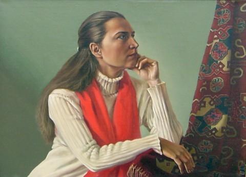 «Портрет», Сергей Леконцев, 2005, холст, масло