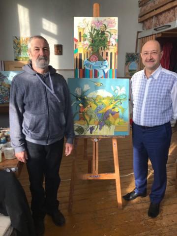 В гостях у художника Шамиля Галиева
