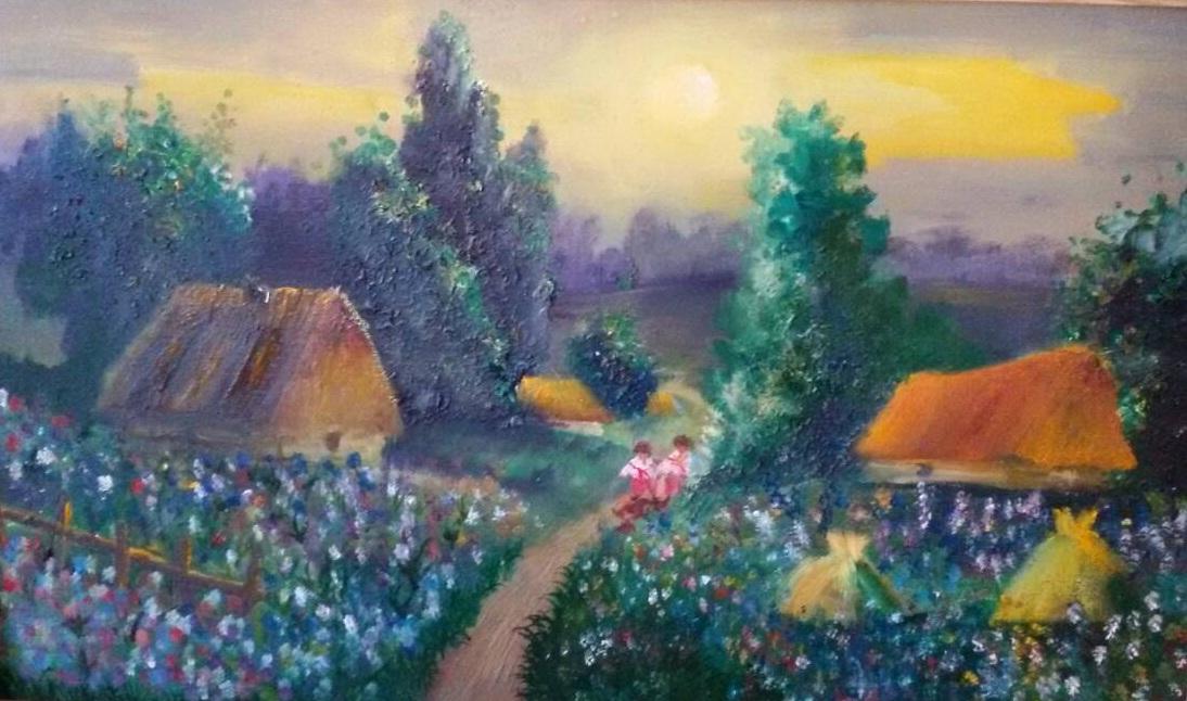 «Красота Украины», Александра Дубинина, холст, масло, 40х60 см, 2015 г.