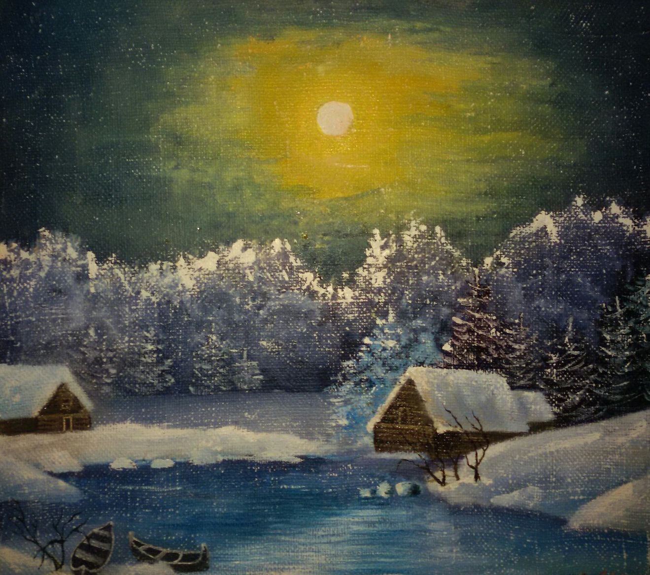 «Зимняя сказка», Александра Дубинина, холст, масло, 40х50 см, 2017 г.