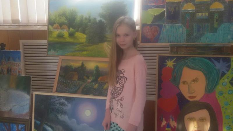 Юная художница из Украины Александра Дубинина