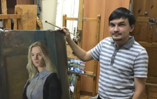 В гостях у художника Марселя Хафизова