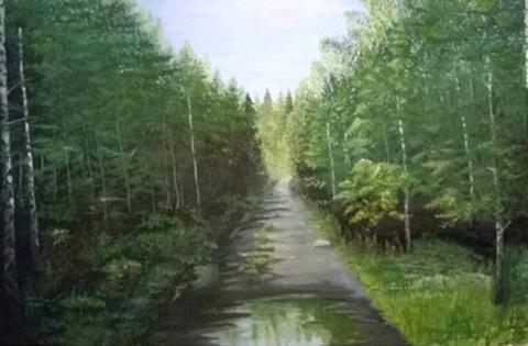 «Дорога на Иремель», Флёра Шарипова, 2016, холст, масло, 50х70