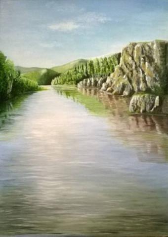 «Река Инзер», Флёра Шарипова, 2017, холст, масло, 50х70