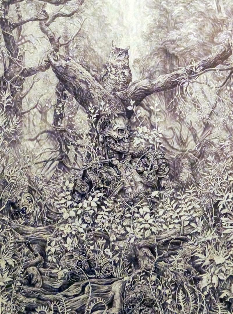«Природа побеждает», Руслан Султанов, А3, шариковая ручка