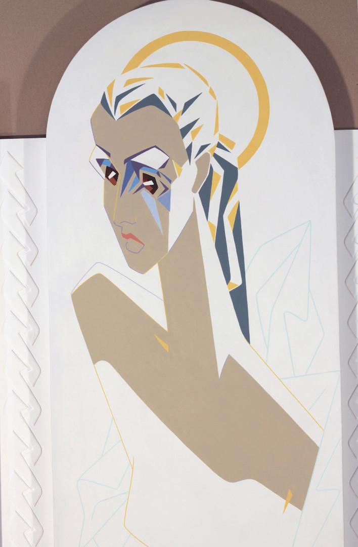 """""""Мария"""" (фрагмент), 2016г. холст на картоне, акрил187 х190"""