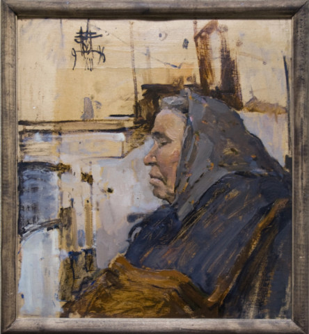 «Мама», Ильшат Байбурин, 1996, картон, масло, 85х85