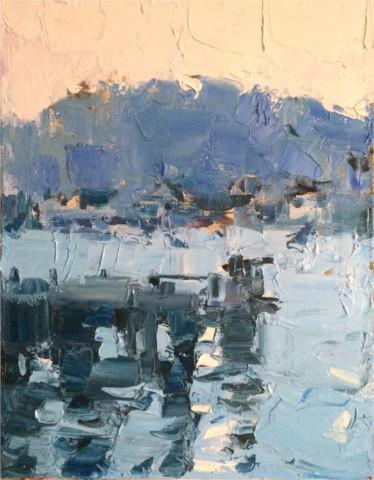 «Вечер в порту. Атлантика», Ильшат Байбурин, 2015, холст, масло, 35х45