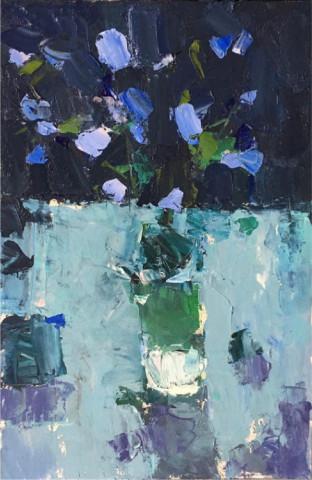 «Синие цветы», Ильшат Байбурин, 2017, холст, масло, 40х60