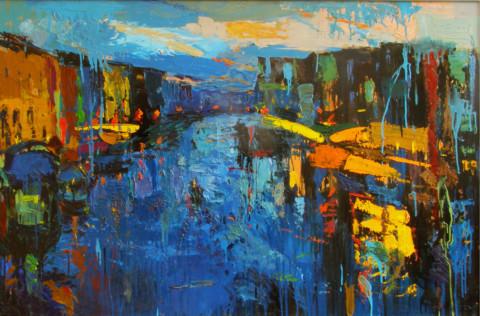 «Венеция», Александр Заярнюк, 2003, оргалит, масло, 110x165
