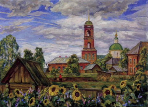 «Николо-Березовка. Перезвоны», Владислав Меос, 1998-2007, холст, масло, 60х80