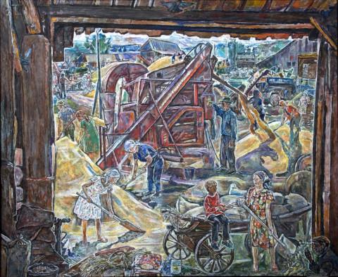 «Урожай. Горячий хлеб.», Федор Кащеев, 2009-2013, холст, масло, 182х221