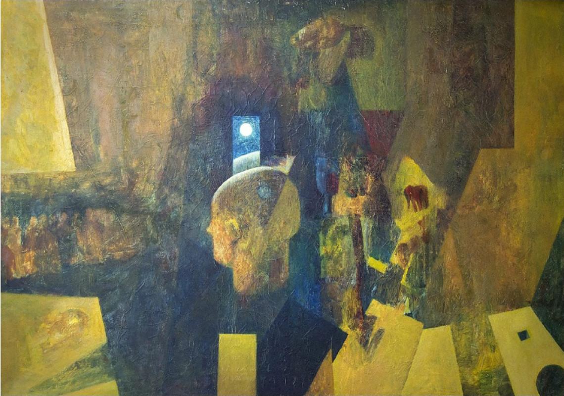 """""""Настроение пространства"""", Айрат Баймухаметов, 2000, холст, масло"""