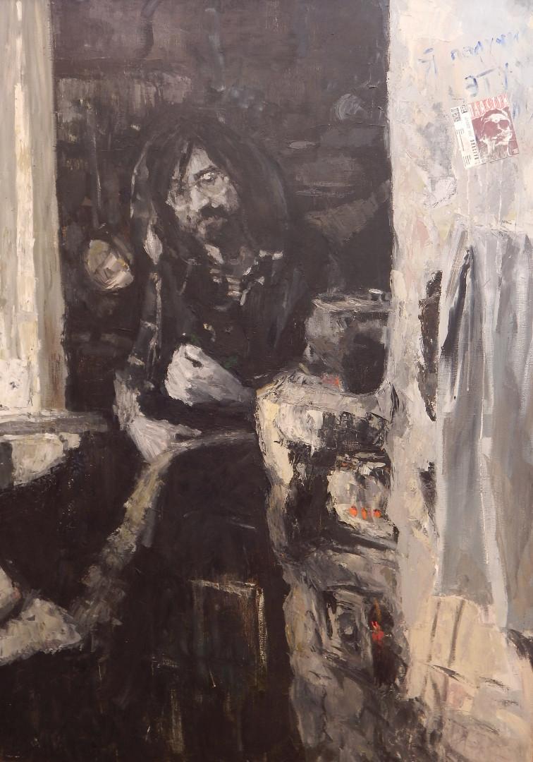 """""""Юрий Шевчук. ДДТ"""", Александр Заярнюк, 2001, холст, масло, 90x146"""